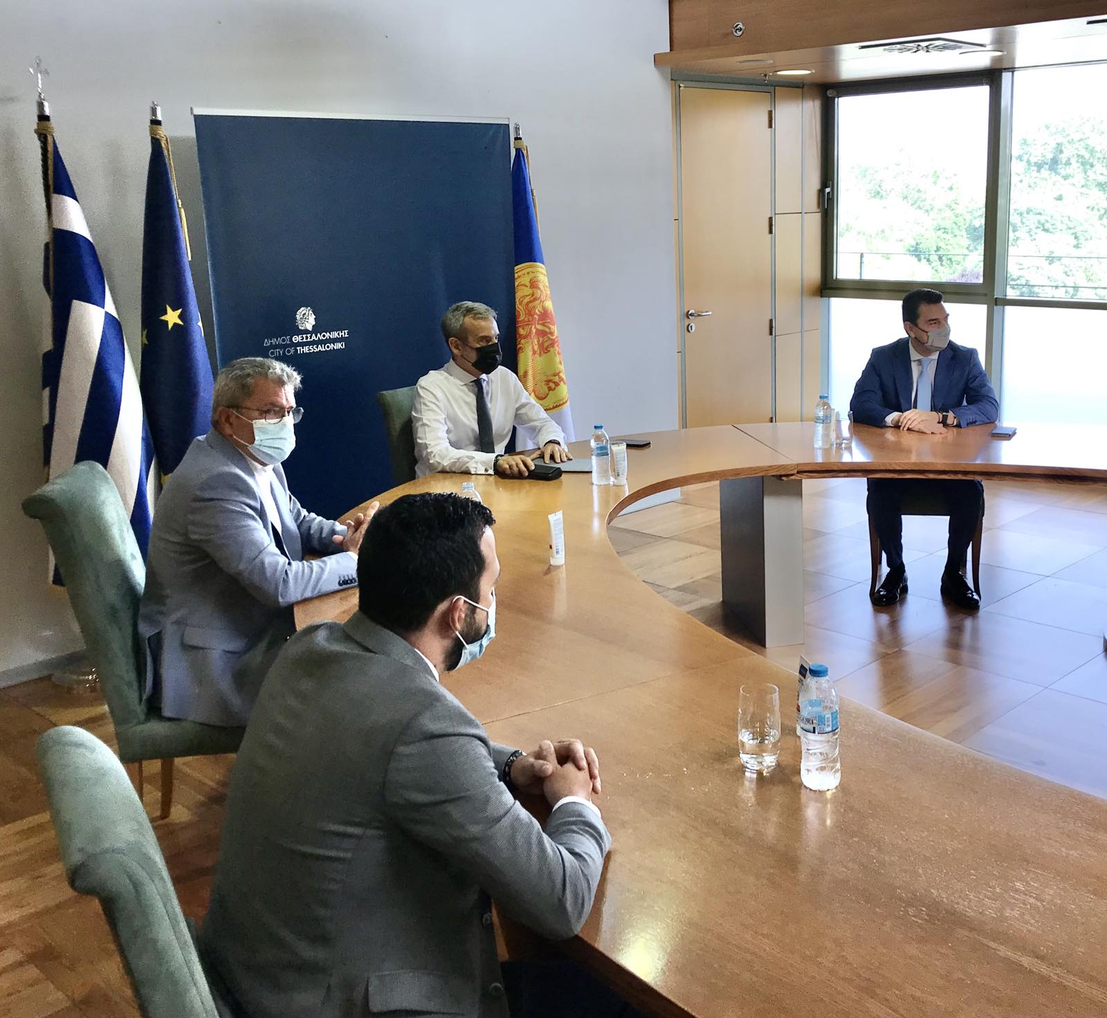 Συνάντηση του Δημάρχου Θεσσαλονίκης Κωνσταντίνου Ζέρβα με τον Υπουργό Περιβάλλοντος και Ενέργειας Κώστα Σκρέκα