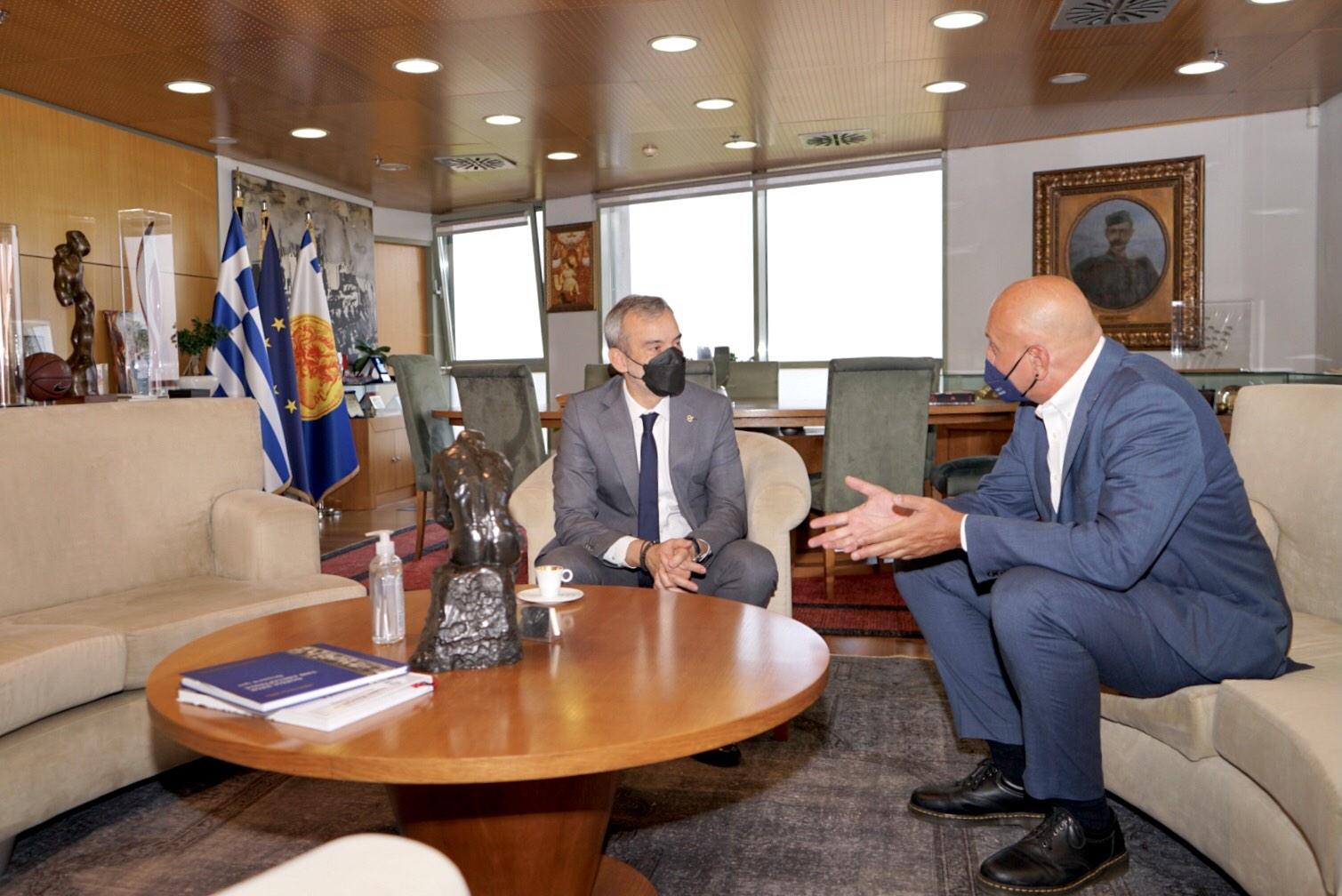 Συνάντηση Δημάρχου Θεσσαλονίκης Κ. Ζέρβα με τον πρόεδρο του ΕΟΔΥ κ. Θ. Ζαούτη - Μήνυμα υπέρ του εμβολιασμού