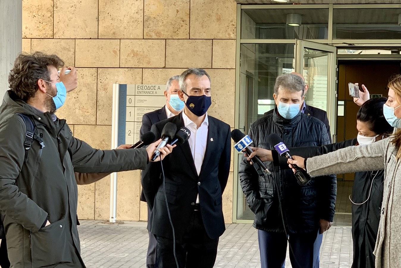 Συνάντηση του Δημάρχου Θεσσαλονίκης Κωνσταντίνου Ζέρβα με τον Υπουργό Προστασίας του Πολίτη Μιχάλη Χρυσοχοΐδη
