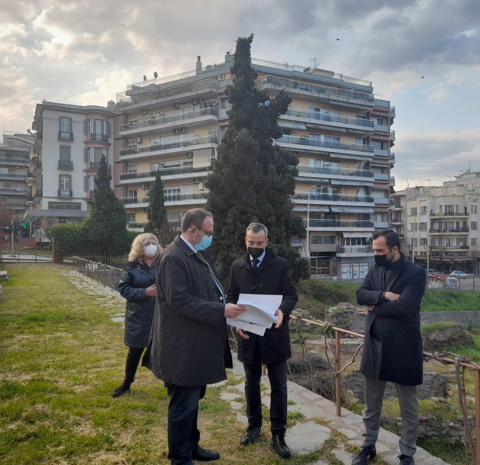 Αυτοψία Ζέρβα στην πλατεία Διοικητηρίου – Επί τάπητος η πορεία εκπόνησης των μελετών