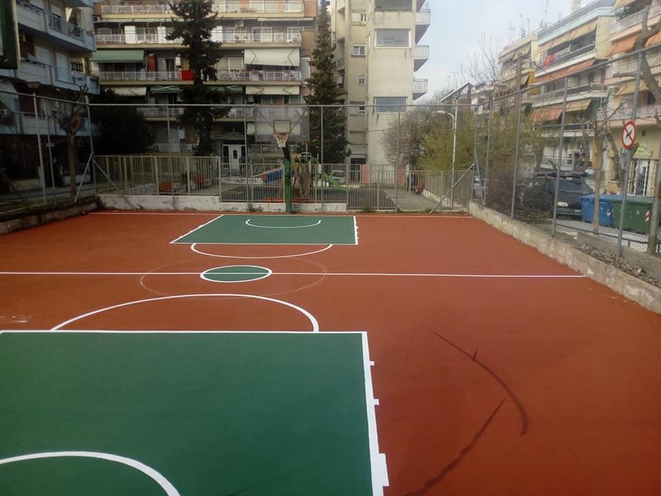 Αναβαθμίστηκαν δυο γήπεδα γειτονιάς στην Τούμπα από τον Δήμο Θεσσαλονίκης (ΦΩΤΟ)