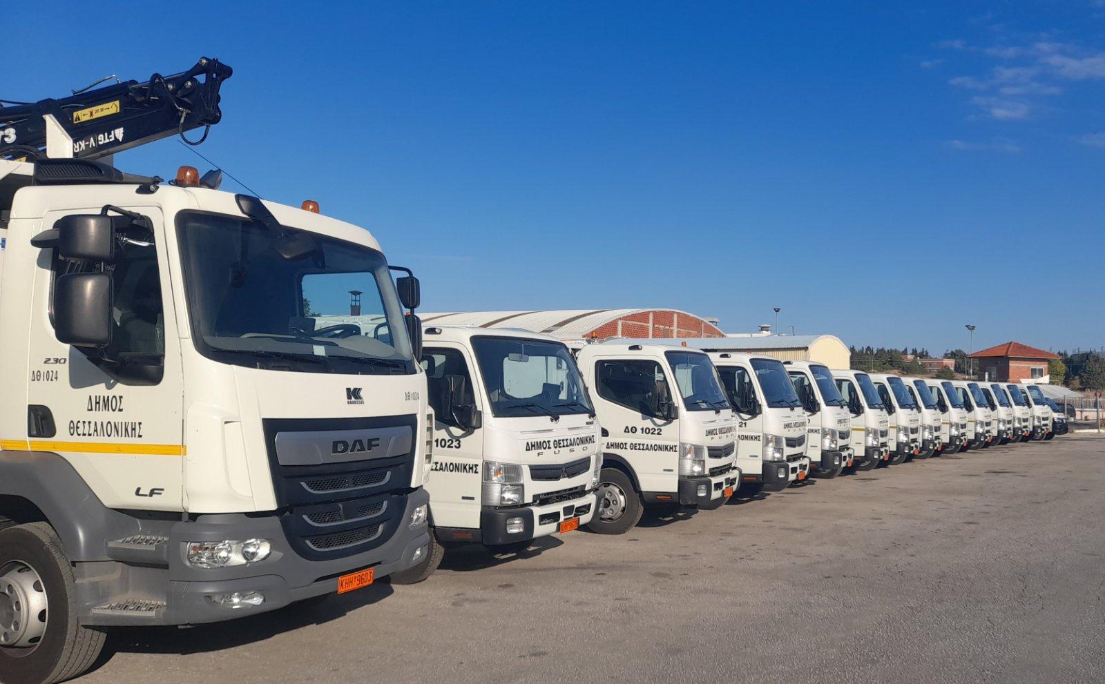 Νέα οχήματα στον στόλο του Δήμου Θεσσαλονίκης - Επιθεώρηση από Ζέρβα - Ζεϊμπέκη